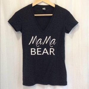 Tops - XS Mama Bear Grey V-Neck T-Shirt
